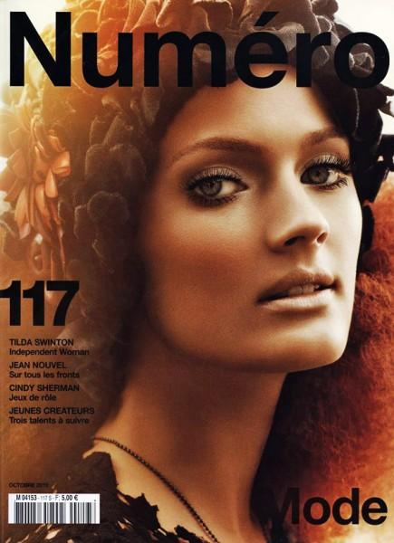 <em>Numéro</em> #117 October 2010 Cover | Constance Jablonski by Greg Kadel