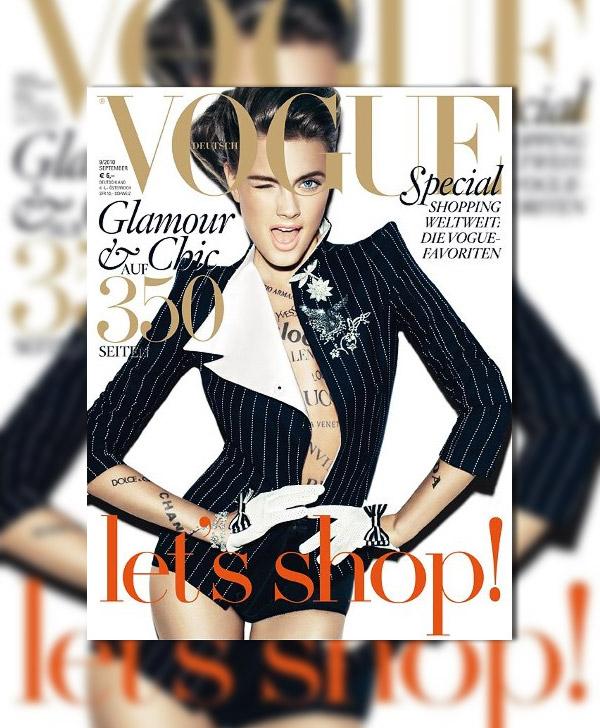 Vogue Germany September 2010 Cover | Constance Jablonski by Alexi Lubomirski