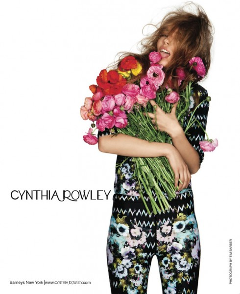 Kristina Kulyk for Cynthia Rowley Spring 2012 Campaign by Tim Barber