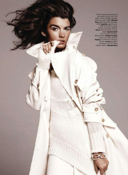 Crystal Renn by Paola Kudacki for <em>Harper's Bazaar US</em> December 2010