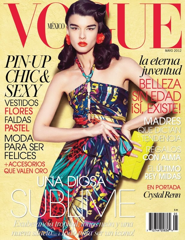 Crystal Renn Covers Vogue Mexico May 2012 in Salvatore Ferragamo