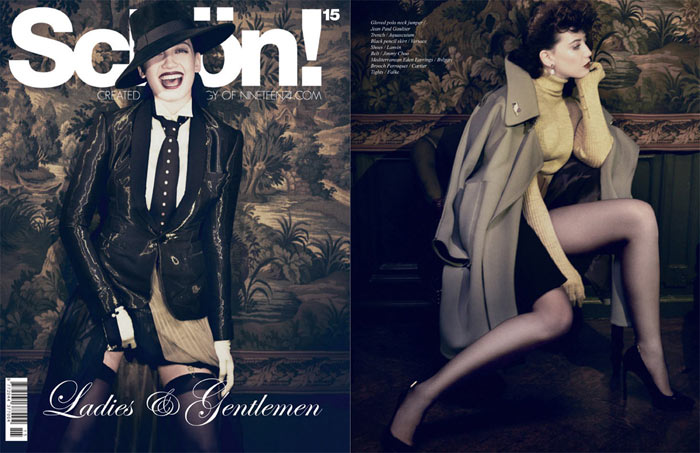 Daisy Lowe by Yuval Hen for Schön! #15