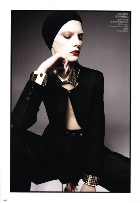Valeria Kelava & Ming Xi by Daniel Jackson for Vogue China February 2011