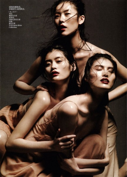 Liu Wen, Sui He & Ming Xi by Daniel Jackson for Vogue China May 2012