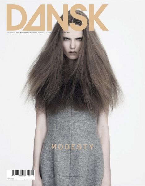 <em>Dansk</em> A/W 2010 Cover | Caroline Brasch Nielsen by Henrik Bülow