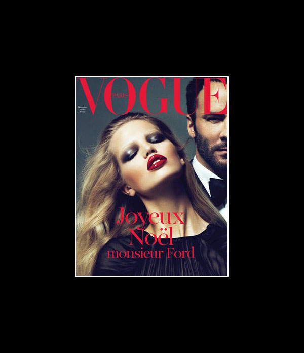 Vogue Paris December/January 2010.2011 Cover | Tom Ford & Daphne Groeneveld by Mert & Marcus