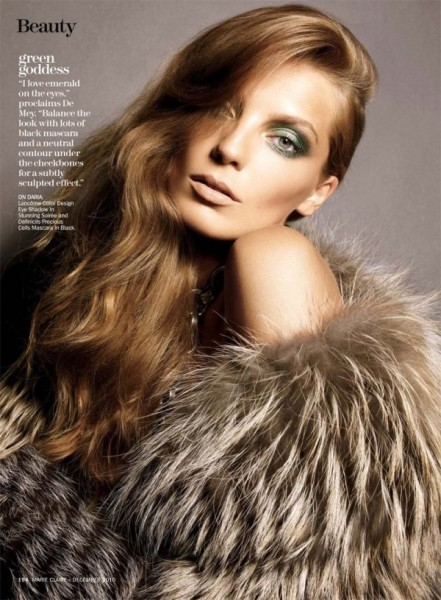 Daria Werbowy by Tesh for <em>Marie Claire US</em> December 2010
