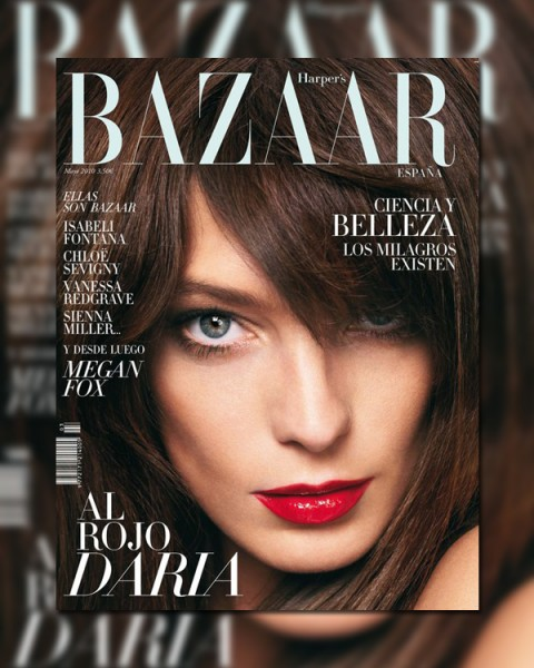 <em>Harper's Bazaar Spain</em> May 2010 Cover | Daria Werbowy