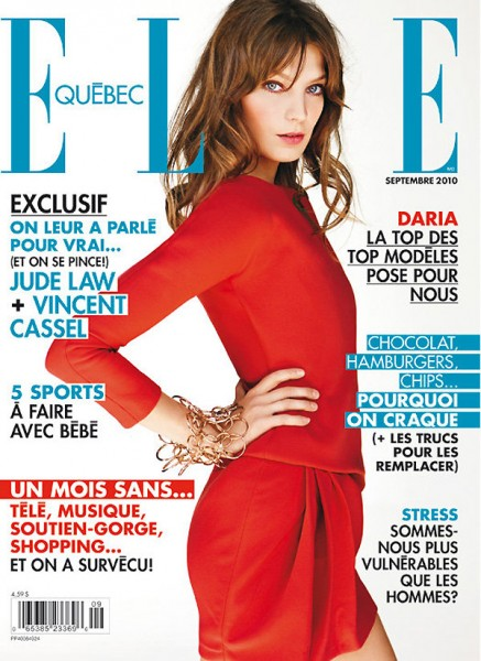 <em>Elle Quebec</em> September 2010 Cover | Daria Werbowy