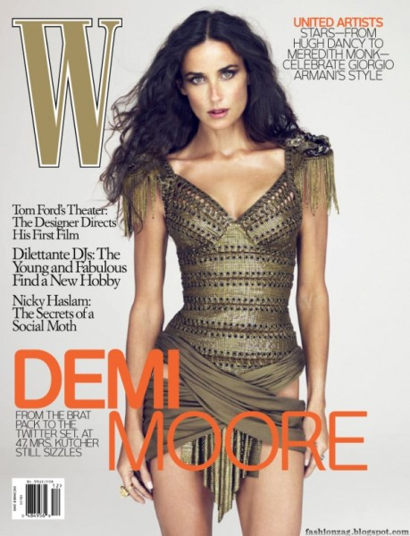 W Magazine December 2009 | Demi Moore by Mert & Marcus
