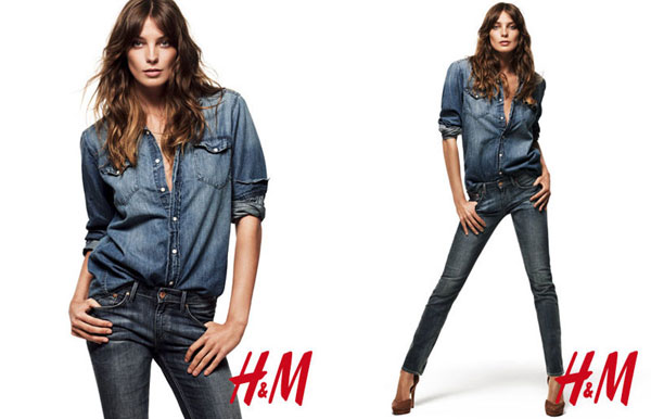 Daria Werbowy for H&M Denim Days