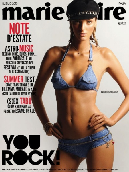 <em>Marie Claire Italia</em> July 2010 Cover | Denisa Dvorakova by Thierry Le Gouès