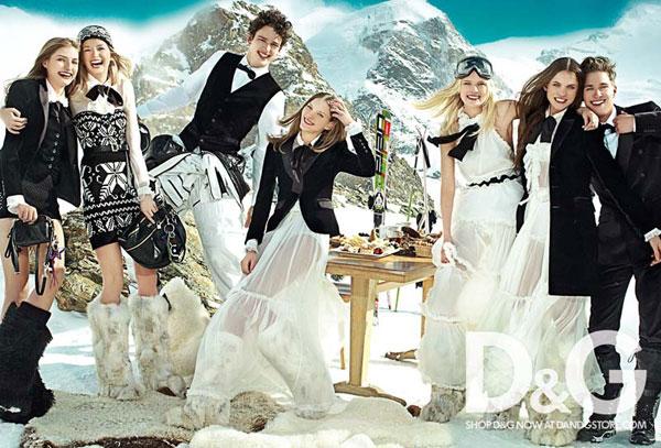 D&G Fall 2010 Campaign | Elena, Regina & Simona by Mario Testino