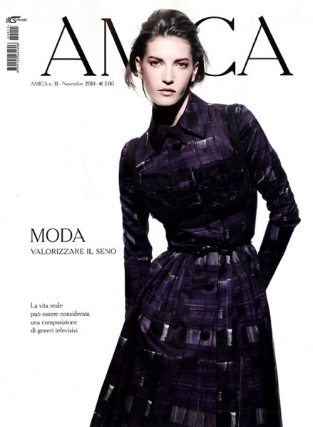 <em>Amica</em> November 2010 Cover | Diana Dondoe by Nadir