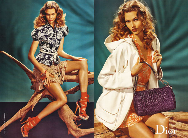 Dior Spring 2011 Campaign Preview | Karlie Kloss by Steven Meisel