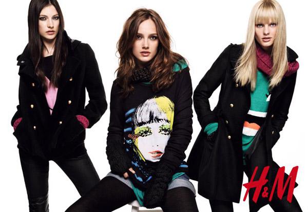 Karmen Pedaru, Jacquelyn Jablonski & Patricia van der Vliet for H&M Divided Get Warm 2010 Campaign