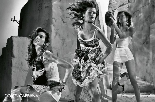 Dolce & Gabbana Spring 2011 Campaign | Alessandra Ambrosio, Isabeli Fontana, Maryna Linchuk & Izabel Goulart by Steven Klein