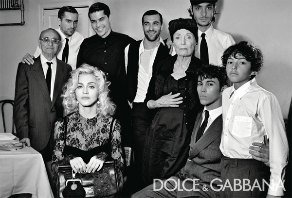 Dolce & Gabbana Fall 2010 Campaign | Madonna by Steven Klein