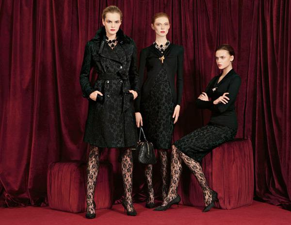 Dolce & Gabbana Fall 2010 | Vlada Roslyakova, Olga Sherer & Zuzana Gregorova