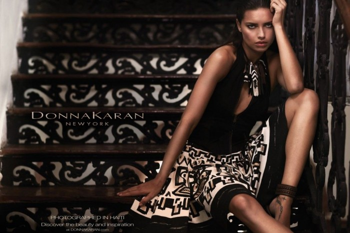 Adriana Lima for Donna Karan Spring 2012 Campaign by Russell James