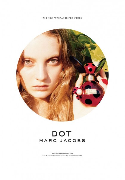 """Codie Young for Marc Jacobs """"Dot"""" Fragrance Campaign by Juergen Teller"""
