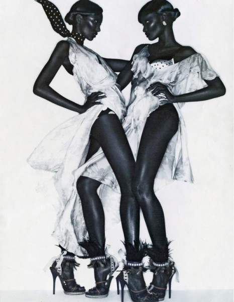 Melodie Monrose & Anais Mali by Solve Sundsbo for <em>Interview</em> December 2010