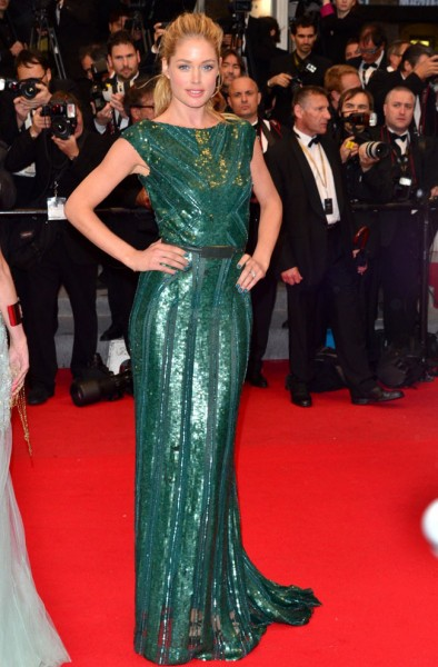 Doutzen Kroes Shines in Elie Saab at Cannes