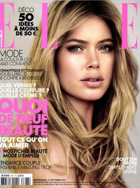 <em>Elle France</em> September 17, 2010 Cover | Doutzen Kroes by Alex Caley