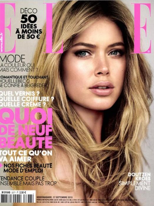 Elle France September 17, 2010 Cover | Doutzen Kroes by Alex Caley
