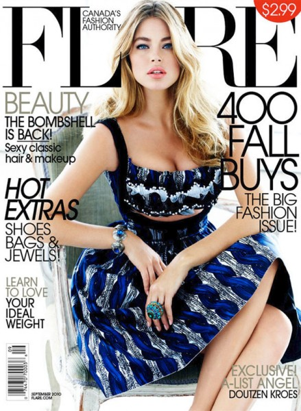 <em>Flare</em> September 2010 Cover | Doutzen Kroes by Max Abadian