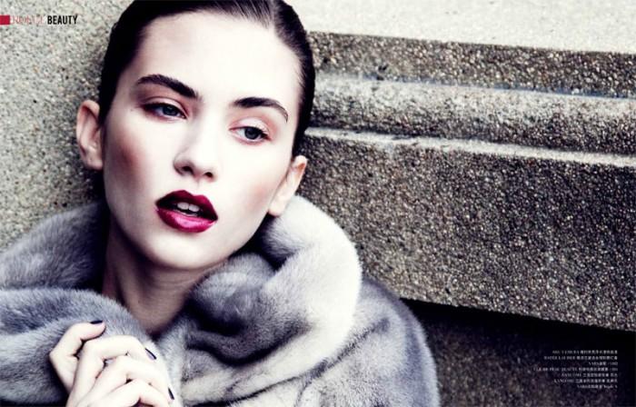 Karolina Cwiek by Tim Zaragoza for ROUGE Winter 2011