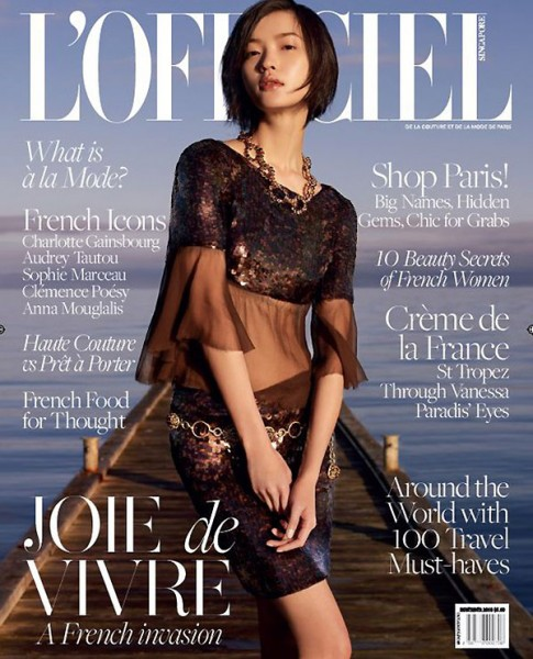 <em>L'Officiel Singapore</em> November 2010 Cover | Du Juan by Wee Khim