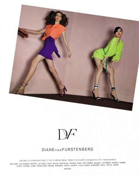 Diane von Furstenberg Spring 2011 Campaign Preview | Ming Xi & Kendra Spears