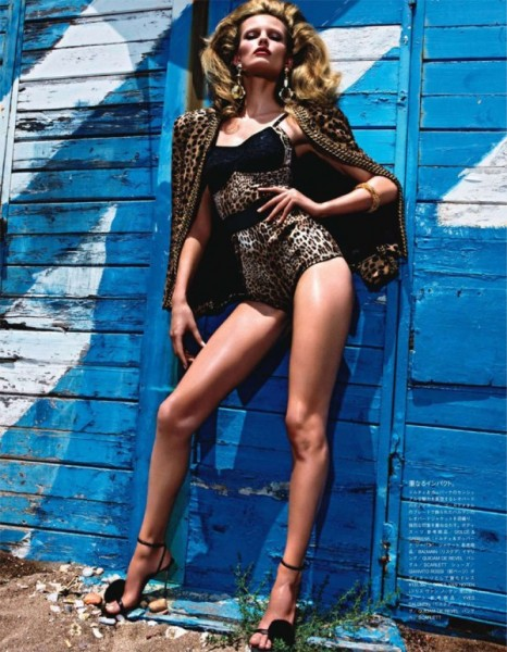 Edita Vilkeviciute by Mario Sorrenti for Vogue Nippon January 2011