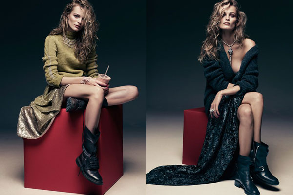 Edita Vilkeviciute for <em>Vogue Germany</em> December 2010 by Alexi Lubomirski