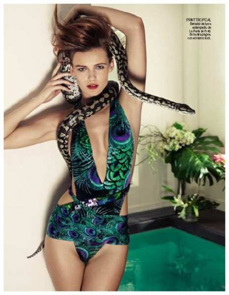 Edita Vilkeviciute by David Vasiljevic | <em>Vogue España</em> April 2010