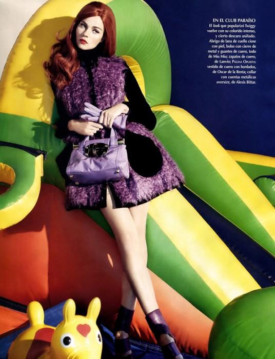 Egle Tvirbutaite by Micaela Rossato for Vogue Latin America October 2010
