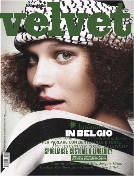 <em>Velvet</em> July 2010 Cover | Egle Tvirbutaite by Enrique Badulescu