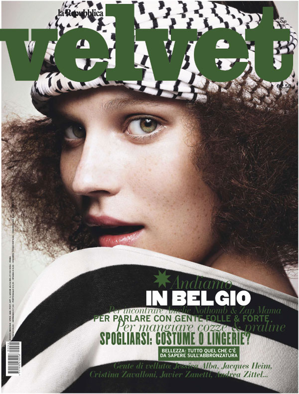 Velvet July 2010 Cover | Egle Tvirbutaite by Enrique Badulescu