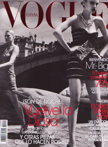 <em>Vogue Spain</em> October 2010 Cover | Elena Melnik by Victor Demarchelier