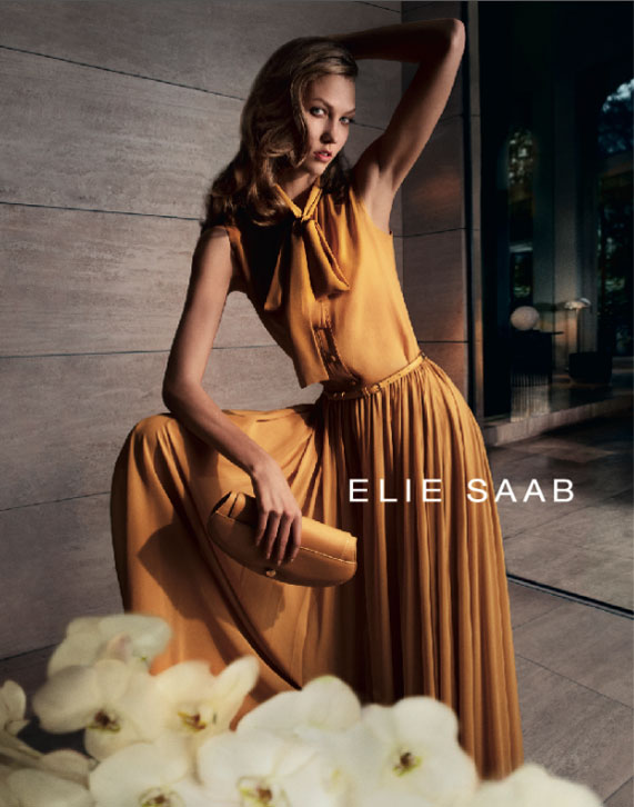 Karlie Kloss for Elie Saab Spring 2012 Campaign by Cédric Buchet