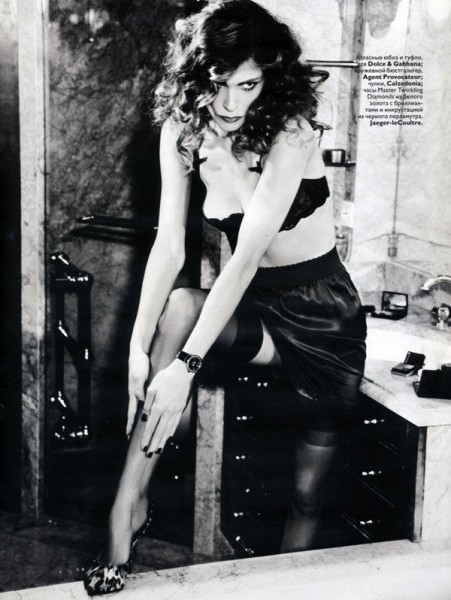 Elisa Sednaoui for Vogue Russia December 2010 by Ellen von Unwerth