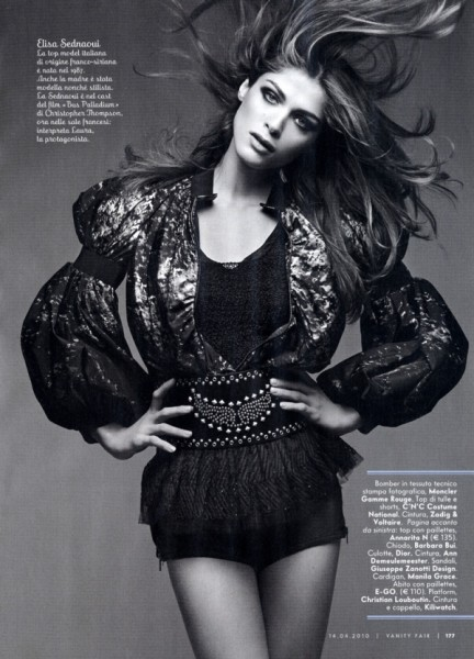 Elisa Sednaoui by Benoit Peverelli | Vanity Fair Italy April 2010