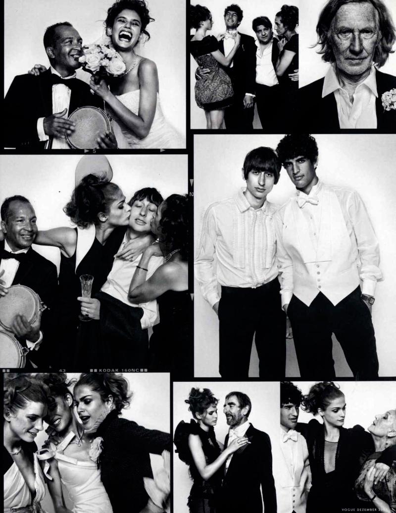 Vogue Germany December 2009 | Elisa Sednaoui, Bianca Balti & Luca Gadjus by Vincent Peters