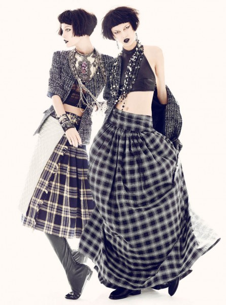 Ella V, Josilyn W, Veranika A & Vika K by Thomas Whiteside in Chanel for Elle US June 2012