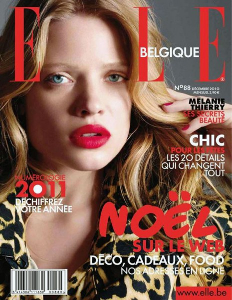 Melanie Thierry for <em>Elle Belgium</em> December 2010