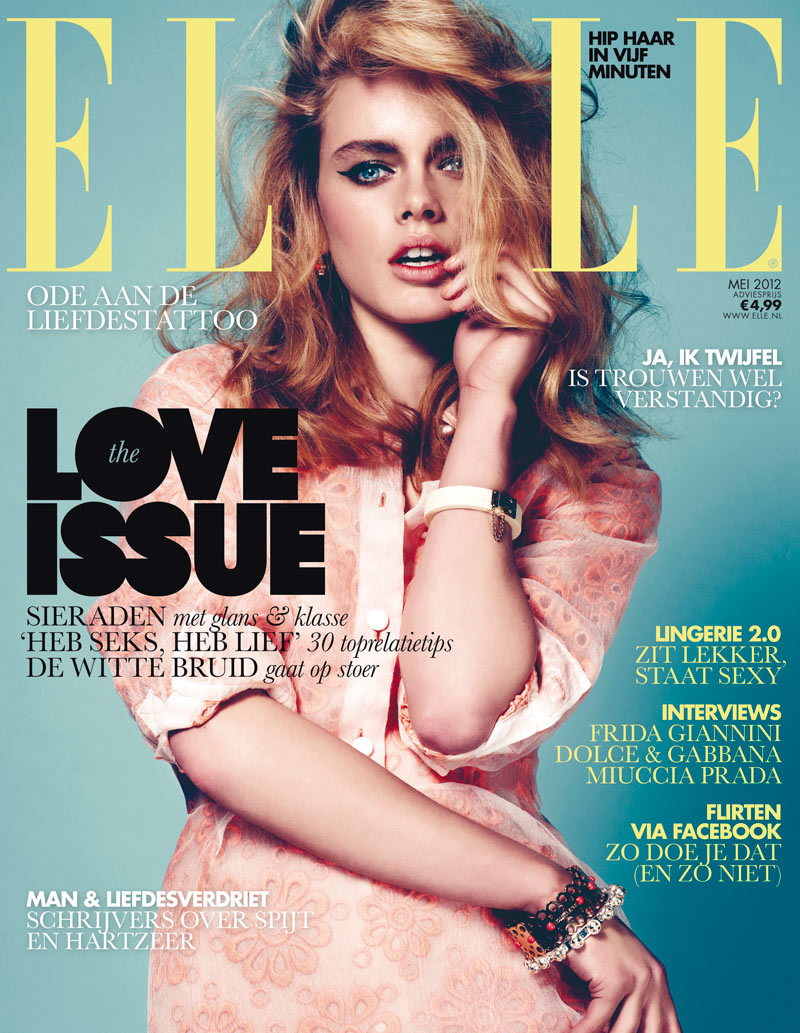 Elle Netherlands May 2012 Cover | Eva Marie Mulder by Jeroen W Mantel