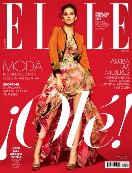 Elle Mexico April 2012 Cover | Kelsey Van Mook by Jason Kim
