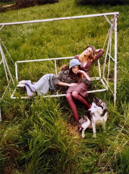 Morning Beauty | Caroline Trentini & Jeisa Chiminazzo by Ellen von Unwerth