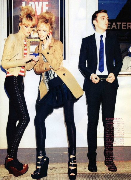Raquel Zimmermann &#038; Caroline Trentini by Ellen von Unwerth in Call It Love | <em>Vogue Nippon</em> June 2010